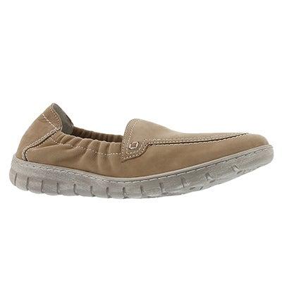 Lds Steffi 57 beige slip on shoe