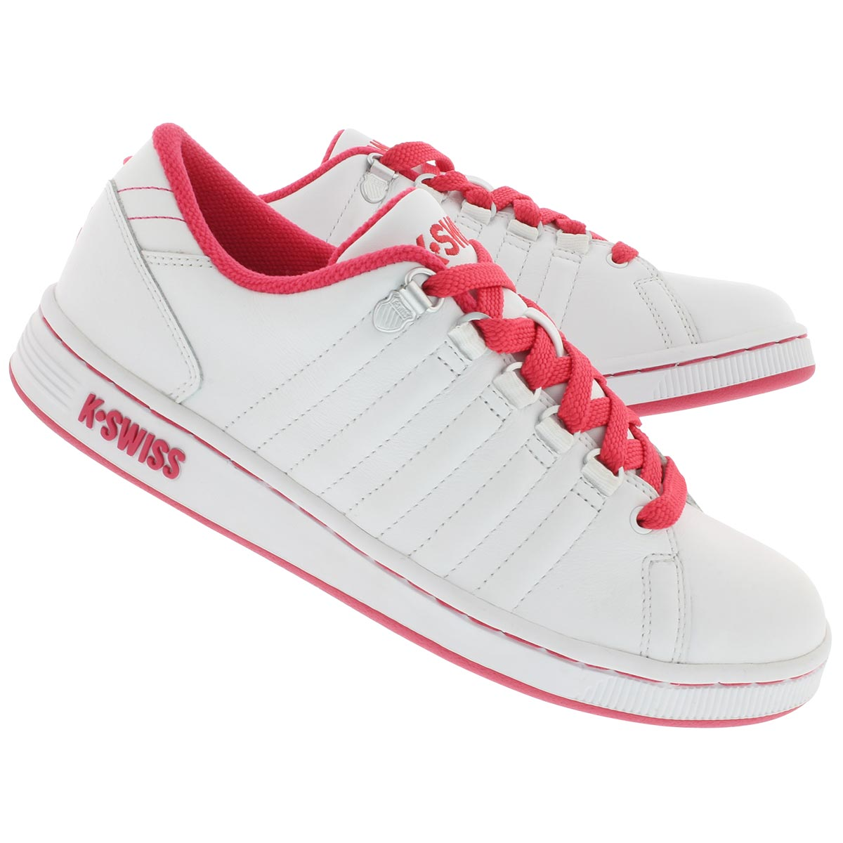 Lds Lozan white/pink lace up sneaker