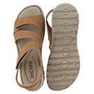 Lds Stefanie 31 camel casual sandal