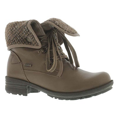 Josef Seibel Women's SANDRA 19 taupe leather collar ankle boots