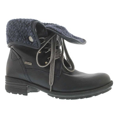 Josef Seibel Women's SANDRA 19 ocean leather collar ankle boots