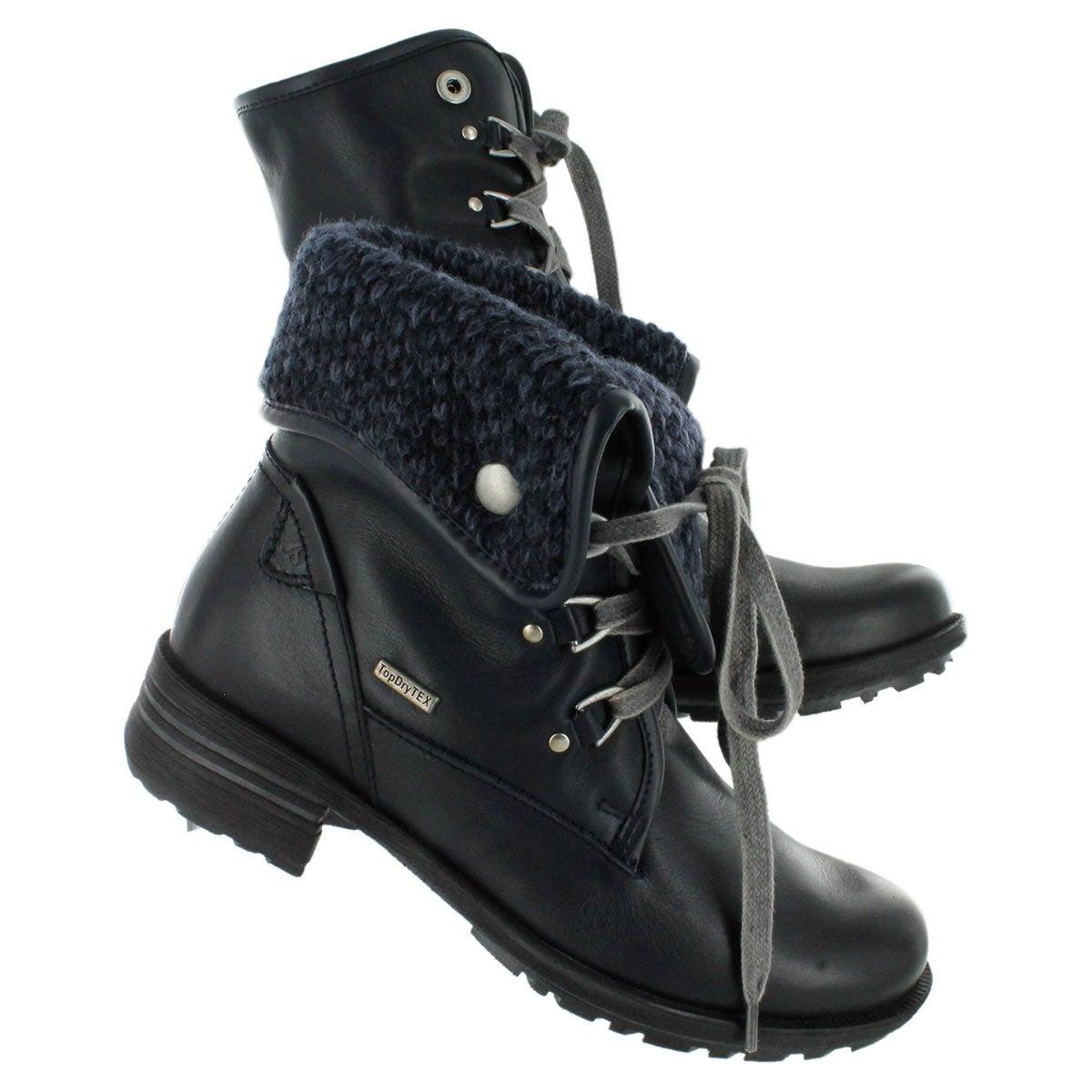 Lds Sandra 19 ocn lthr collar ankle boot