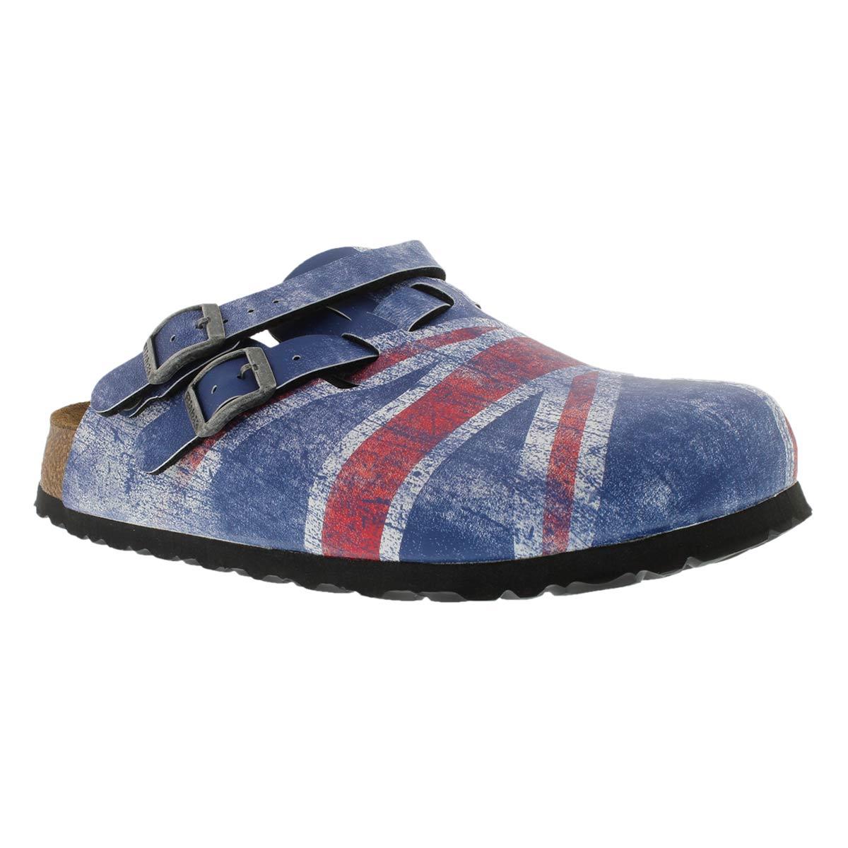Sabots Kay, bleu Union Jack, fem-�troits