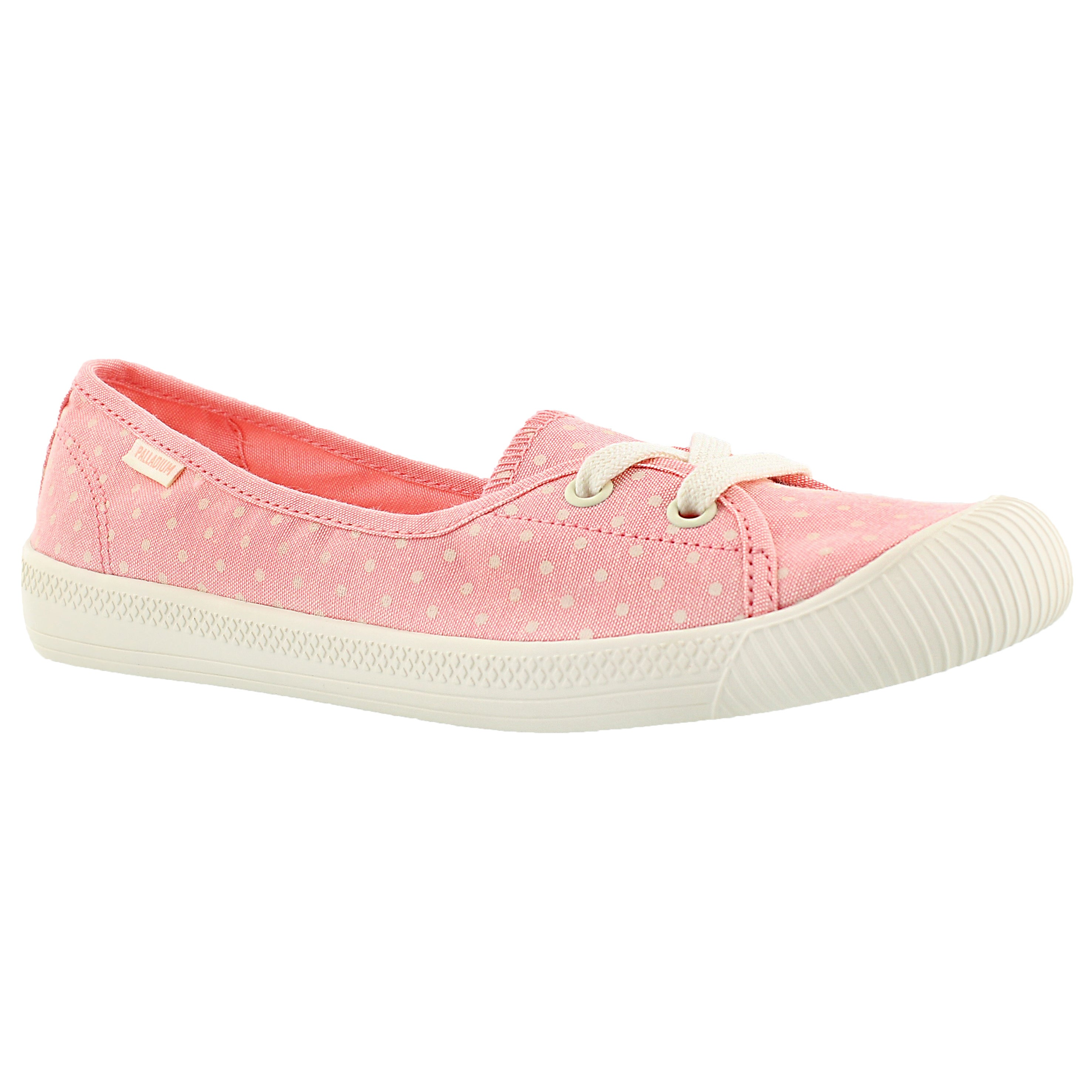 Women's FLEX BALLET peach/white dots sneakers