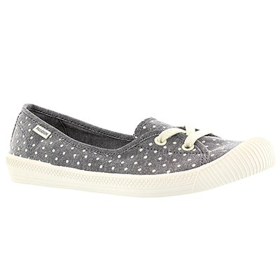 Palladium Women's FLEX BALLET grey/white dots sneakers