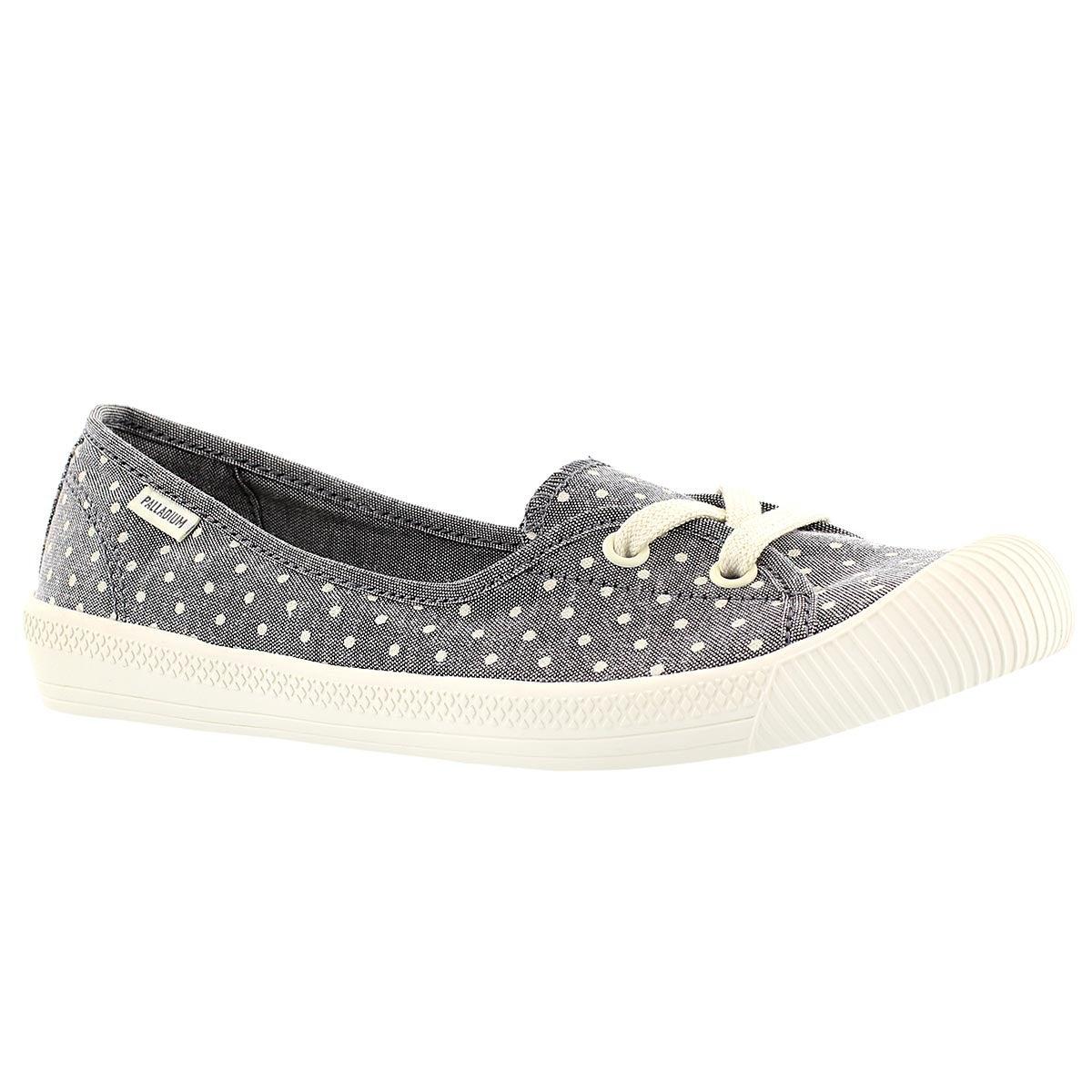 Lds Flex Ballet grey/wht dots sneaker