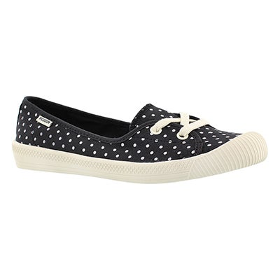 Palladium Women's FLEX BALLET black/white dots sneakers