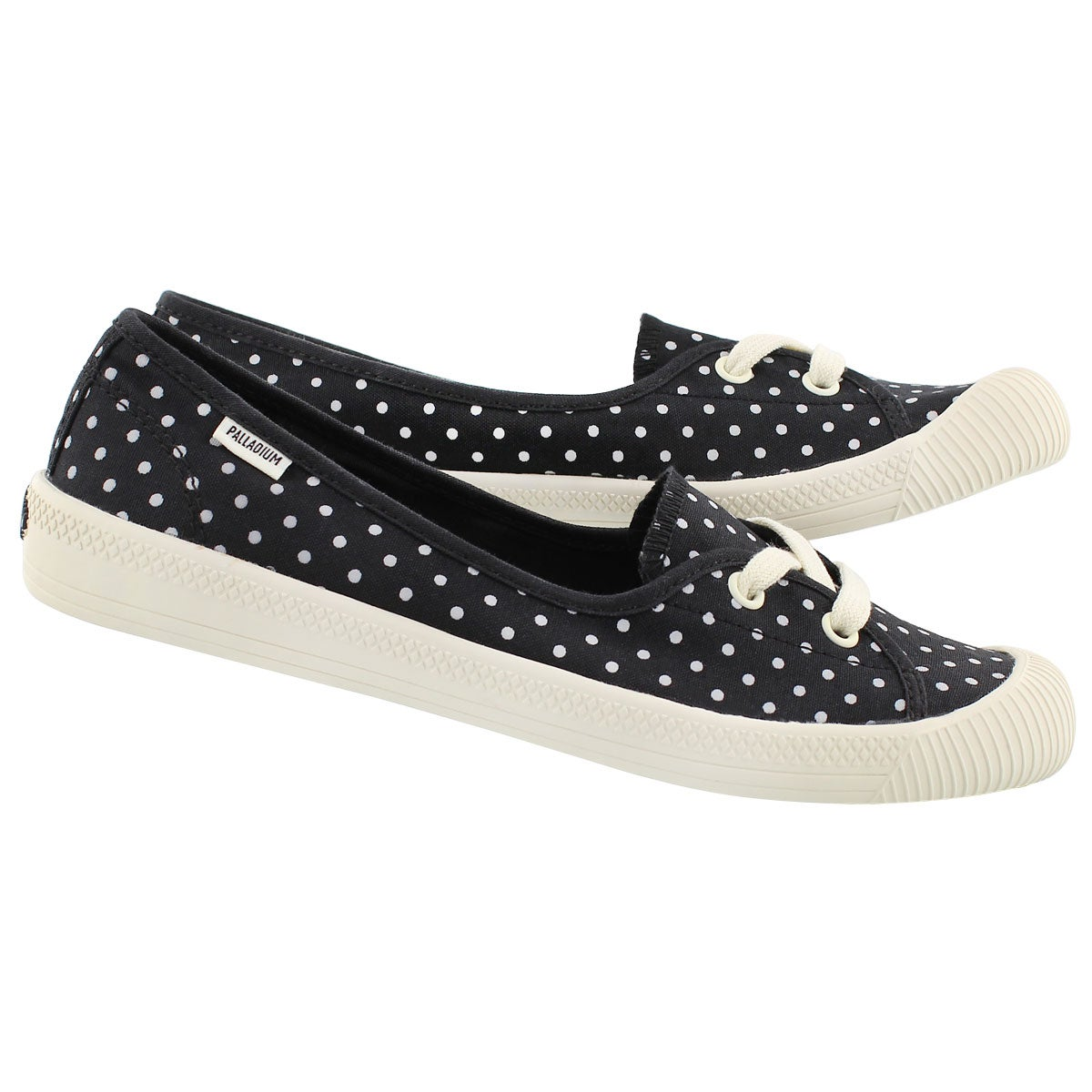 Lds Flex Ballet blk/wht dots sneaker