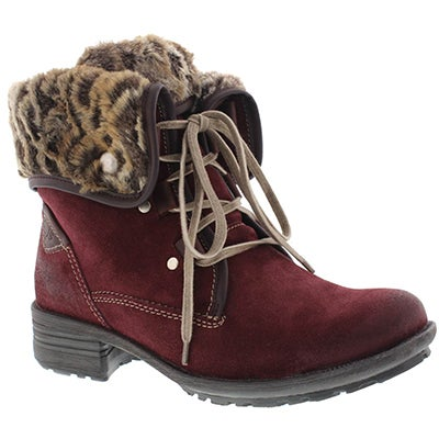 Josef Seibel Women's SANDRA 04 sangria lace-up boots