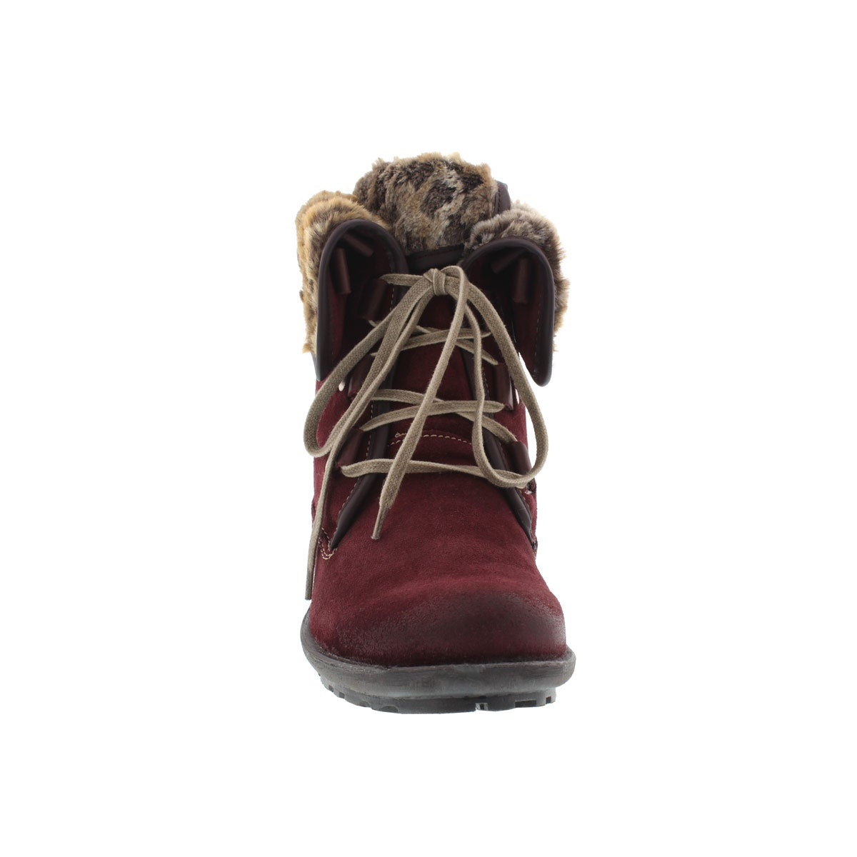 Lds Sandra 04 sangria lace-up boot