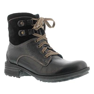 Josef Seibel Women's SANDRA 14 black leather ankle boots