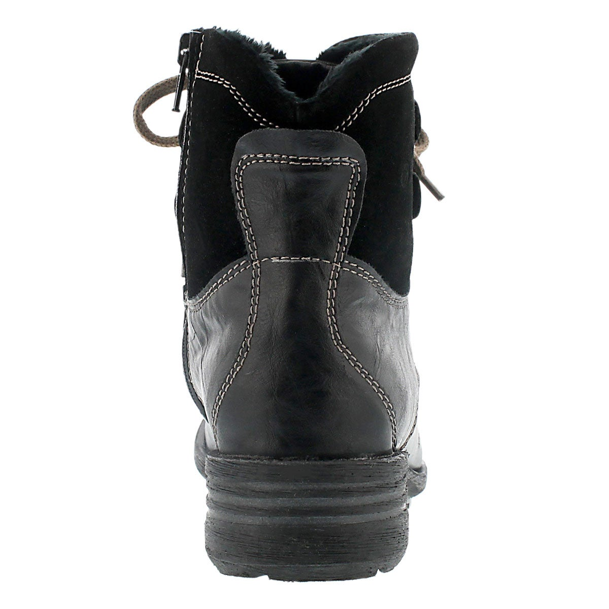 Lds Sandra 14 blk lthr laceup ankle boot