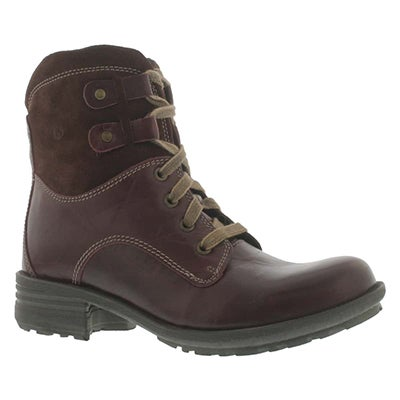 Josef Seibel Women's SANDRA 14 wine leather ankle boots