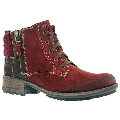 Josef Seibel Women's SANDRA 28 carmin ankle boots