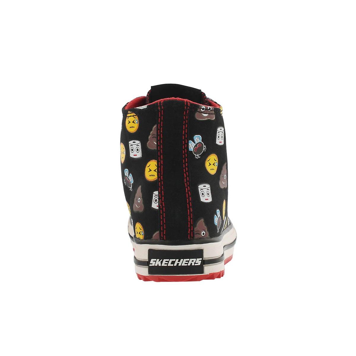 Bys Jagged black emoji high top sneaker