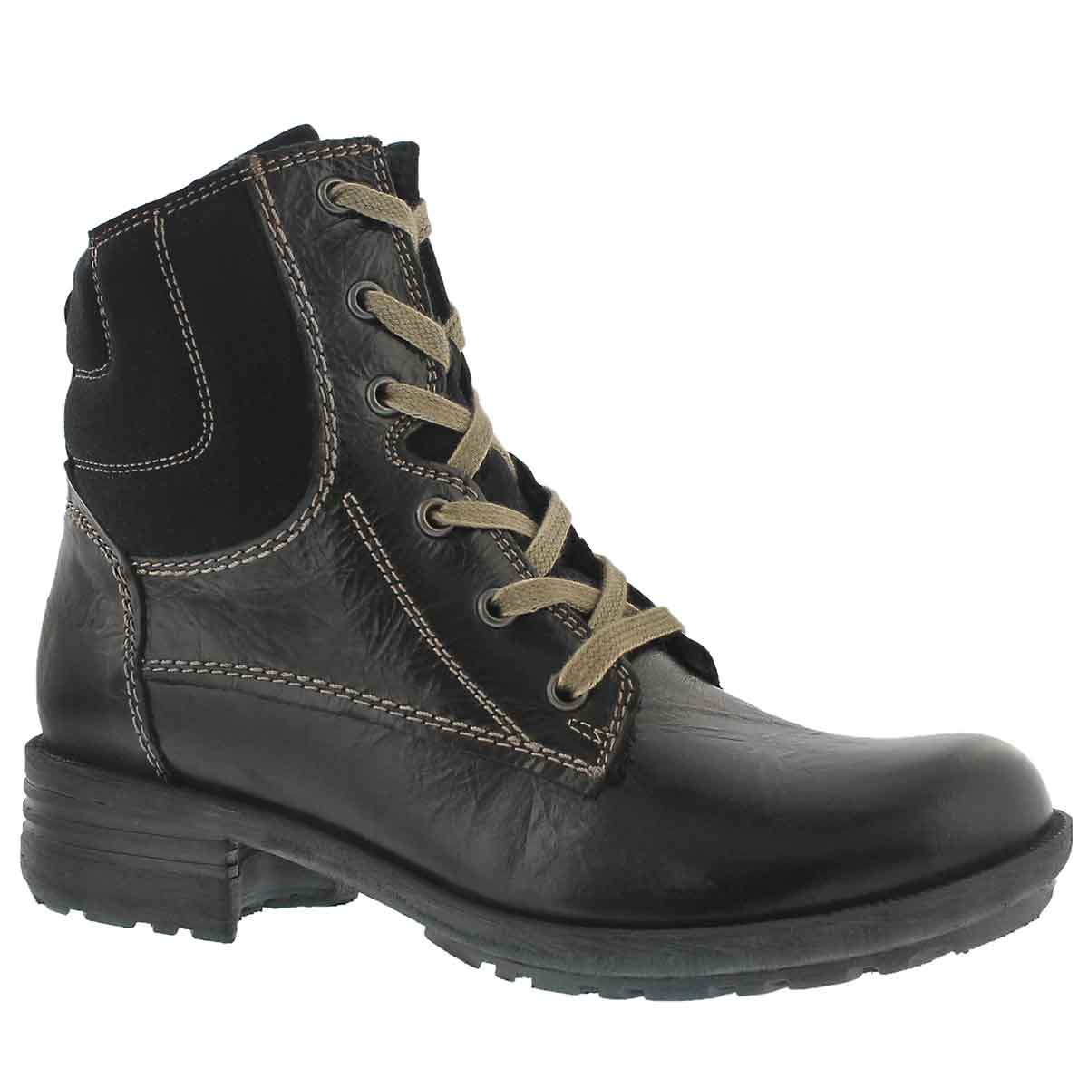 Lds Sandra 64 schwarz laceup casual boot