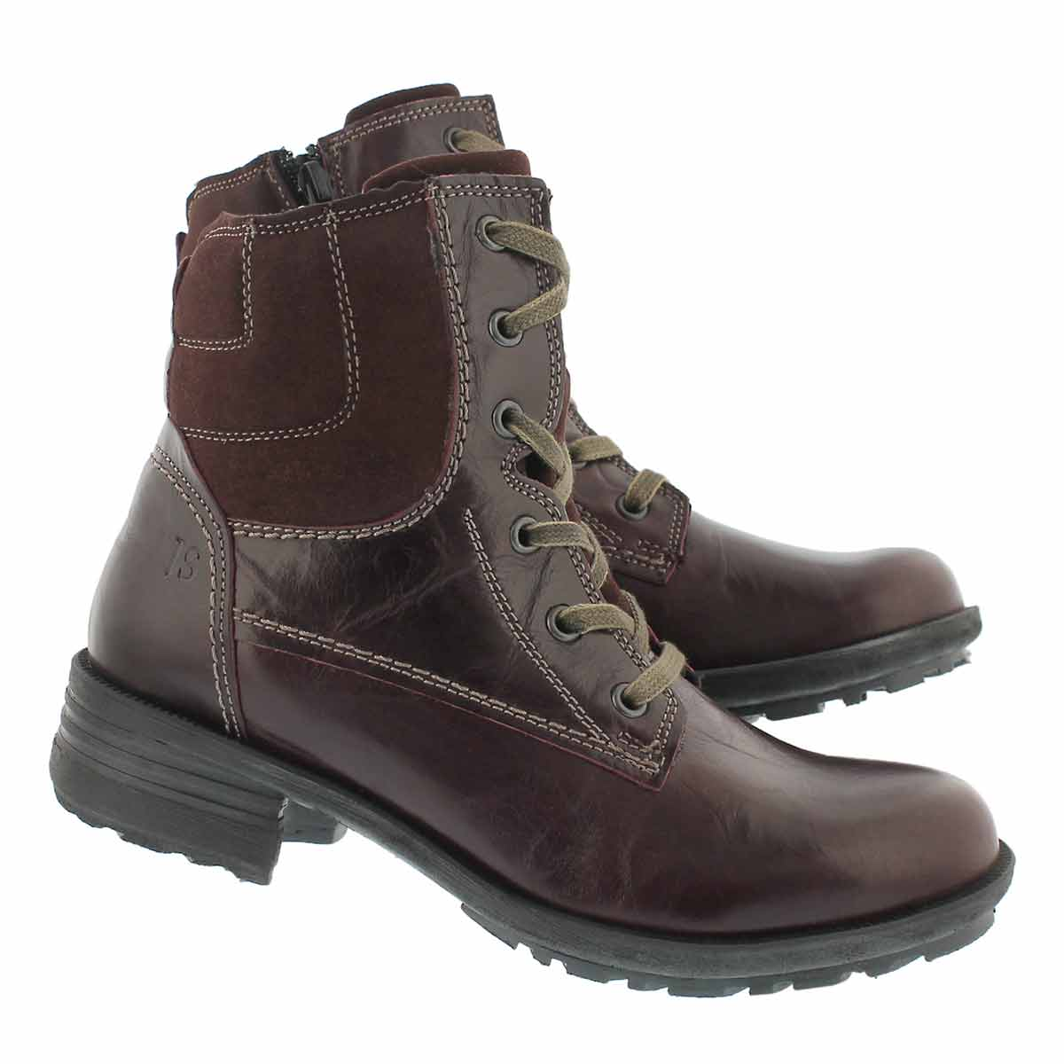 Lds Sandra 64 bordo lace up casual boot