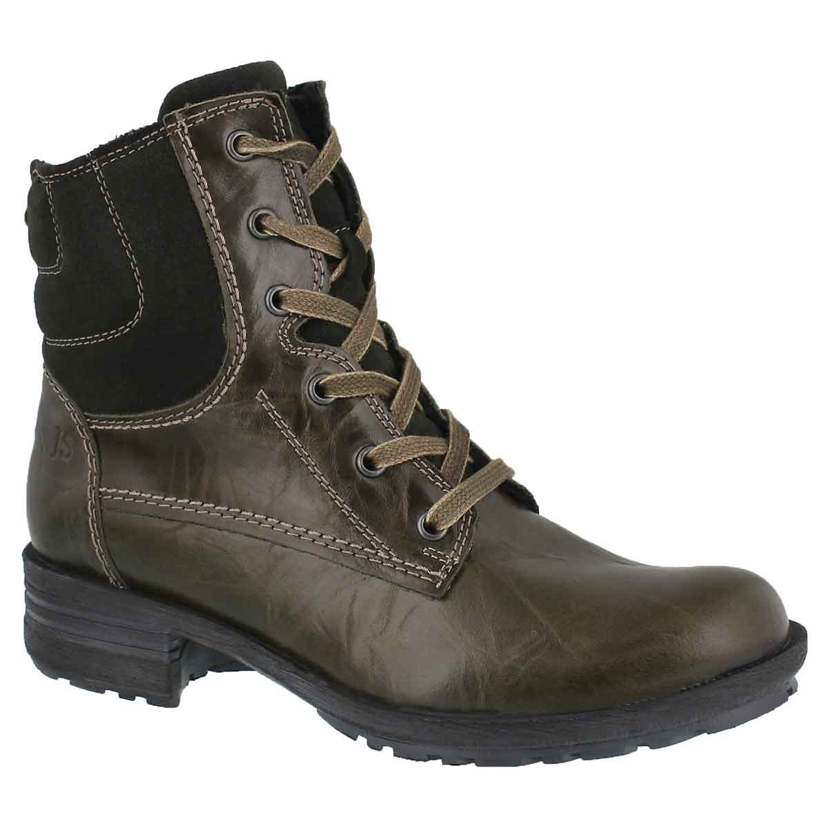 Women's SANDRA 64 olive lace up casual boots