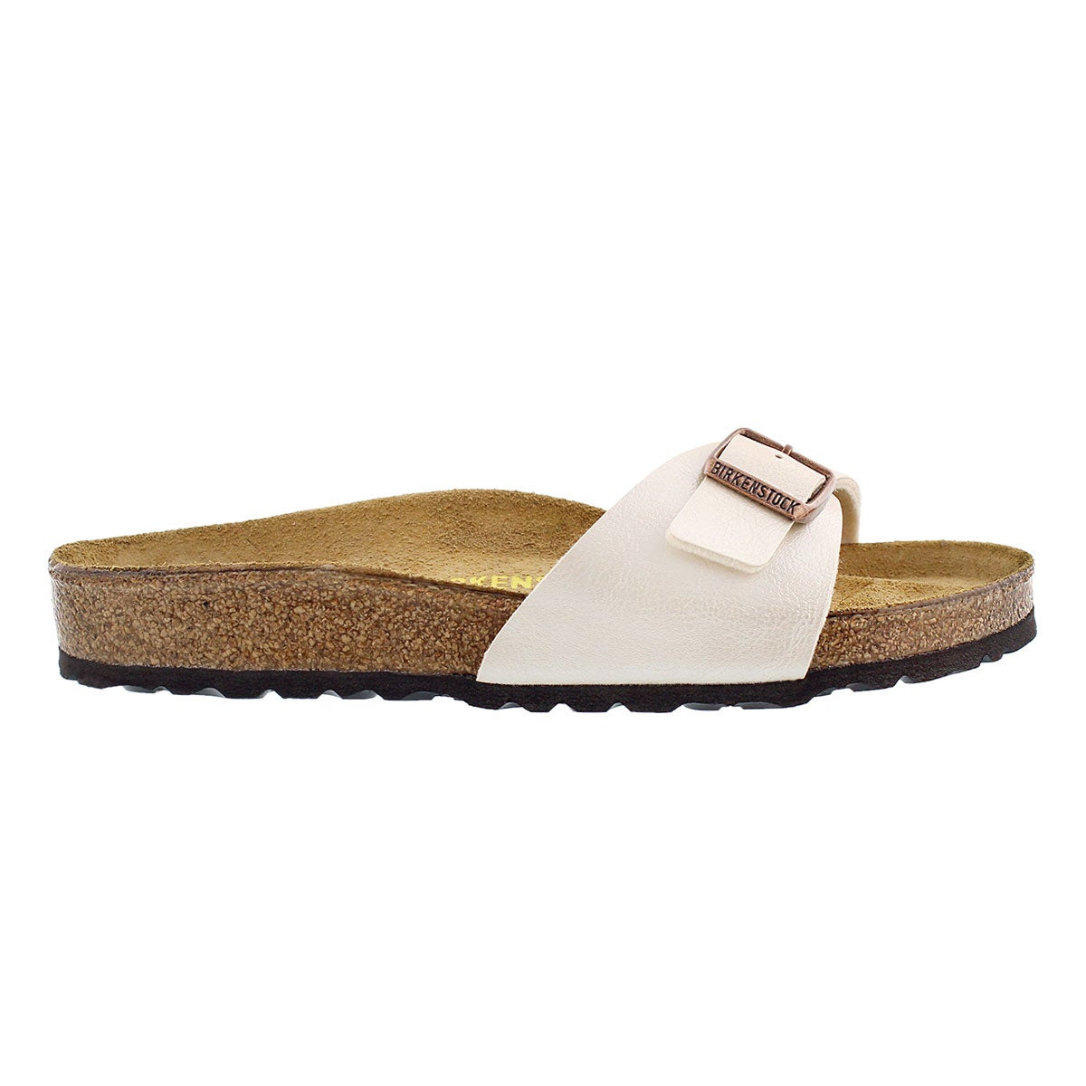 Lds Madrid BF pearl white 1 strap sandal