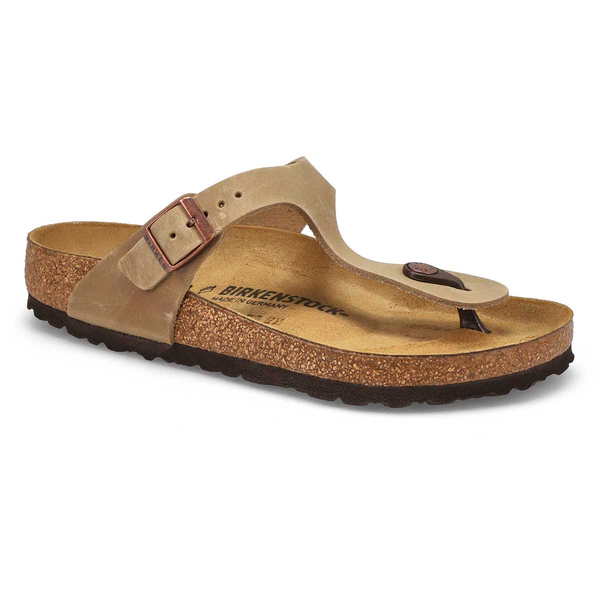 Women's GIZEH tobacco leather sandals