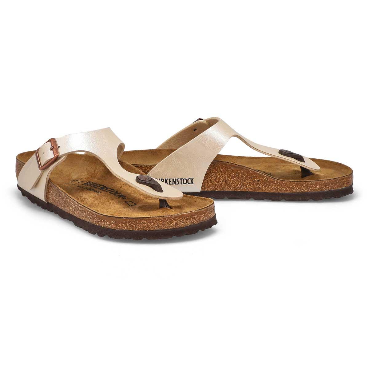 Lds Gizeh pearl white thong sandal