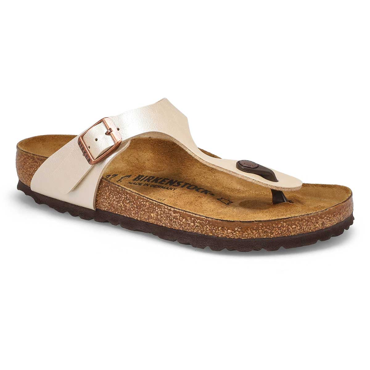Women's GIZEH pearl white thong sandals
