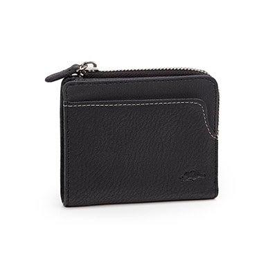 Mns Gun Powder black top zip wallet