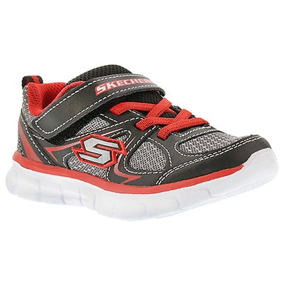 Skechers Infants' MINI DASH black/grey/red sneakers