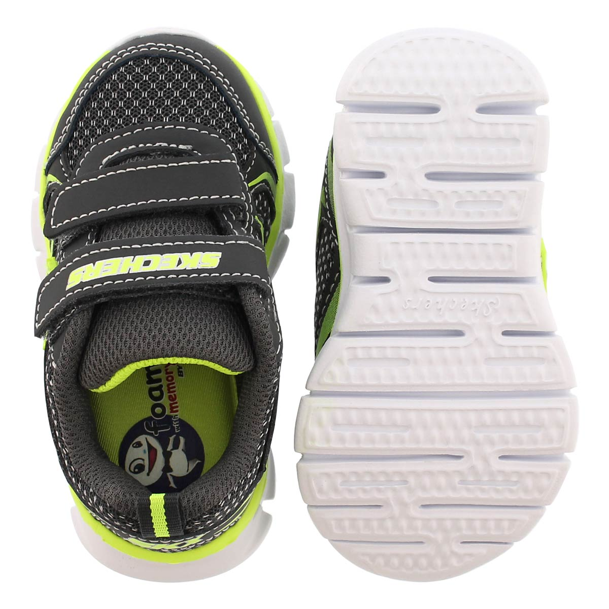 Inf Mini Sprint char/lime 2 strp sneaker