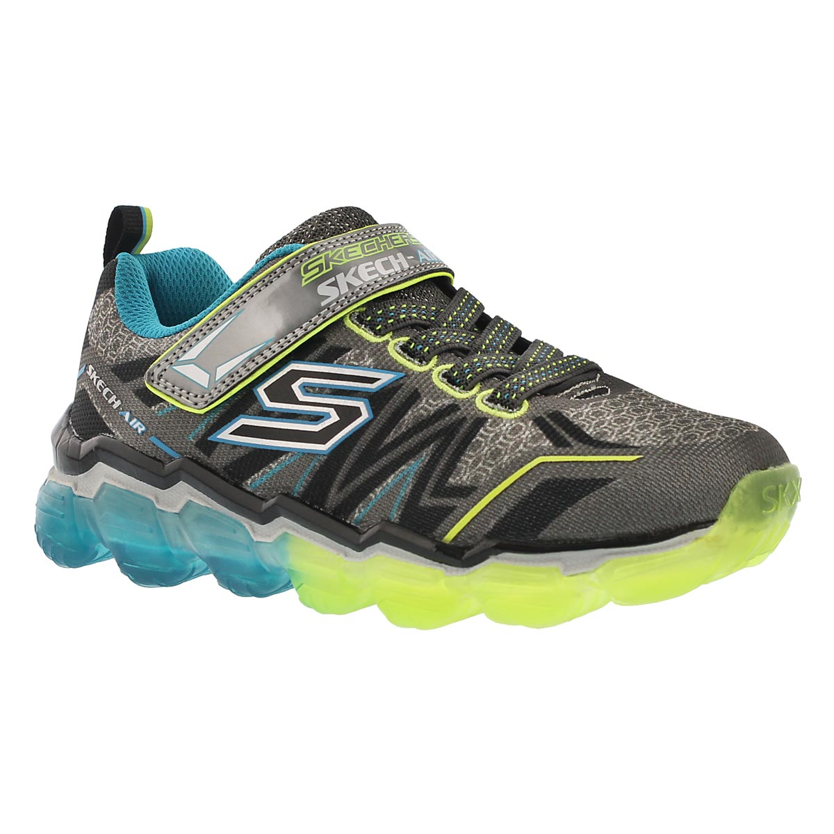 Bys Skech Air blu/lime  printed sneaker