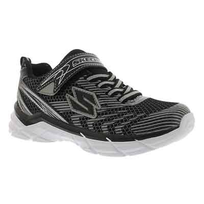 Skechers Boys' RIVE black/silver slip-on sneakers