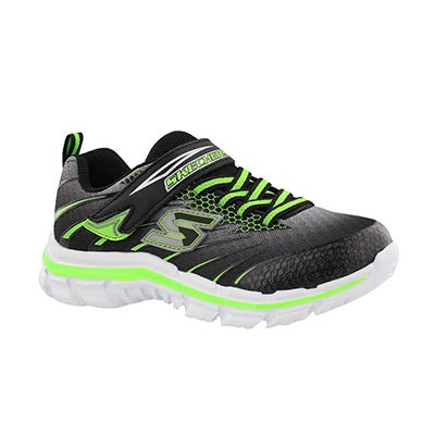 Skechers Boys' NITRATE PULSAR black/green sneakers