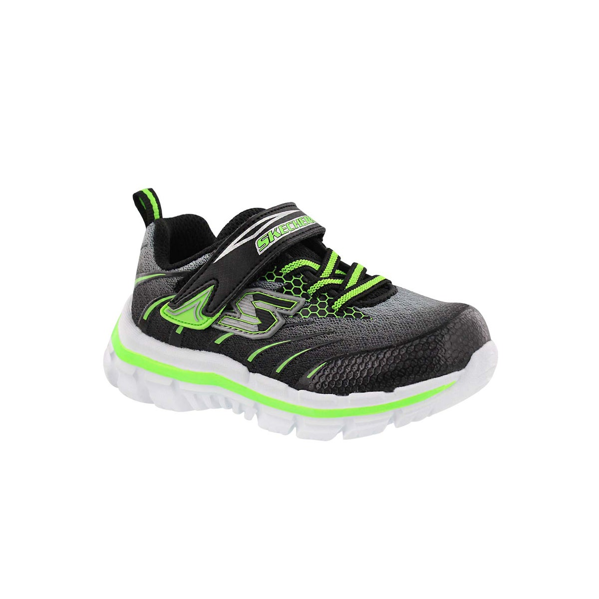 Infants' NITRATE black/lime sneakers