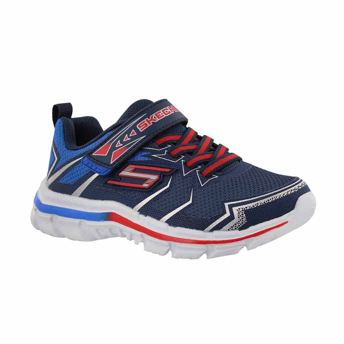 Boys' NITRATE ION BLAST navy/ red sneakers