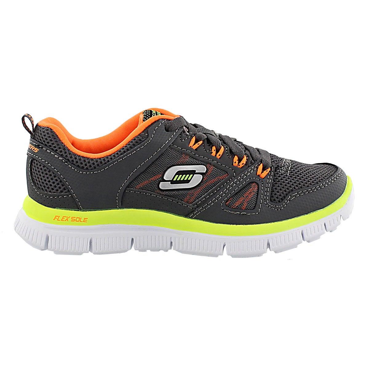 Bys Flex Advantage charcoal lace sneaker