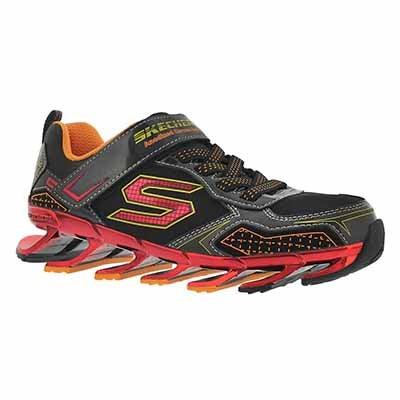 Skechers Boys' MEGA BLADE 2.0 black/red sneakers