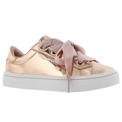 Lds Hi-Lite rose gold lace up sneaker