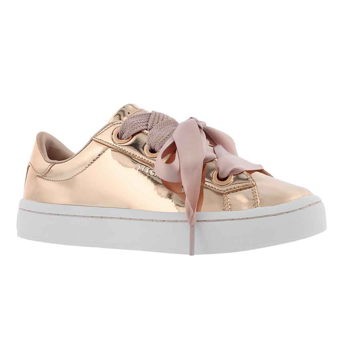 Women's HI-LITE rose gold lace up sneakers