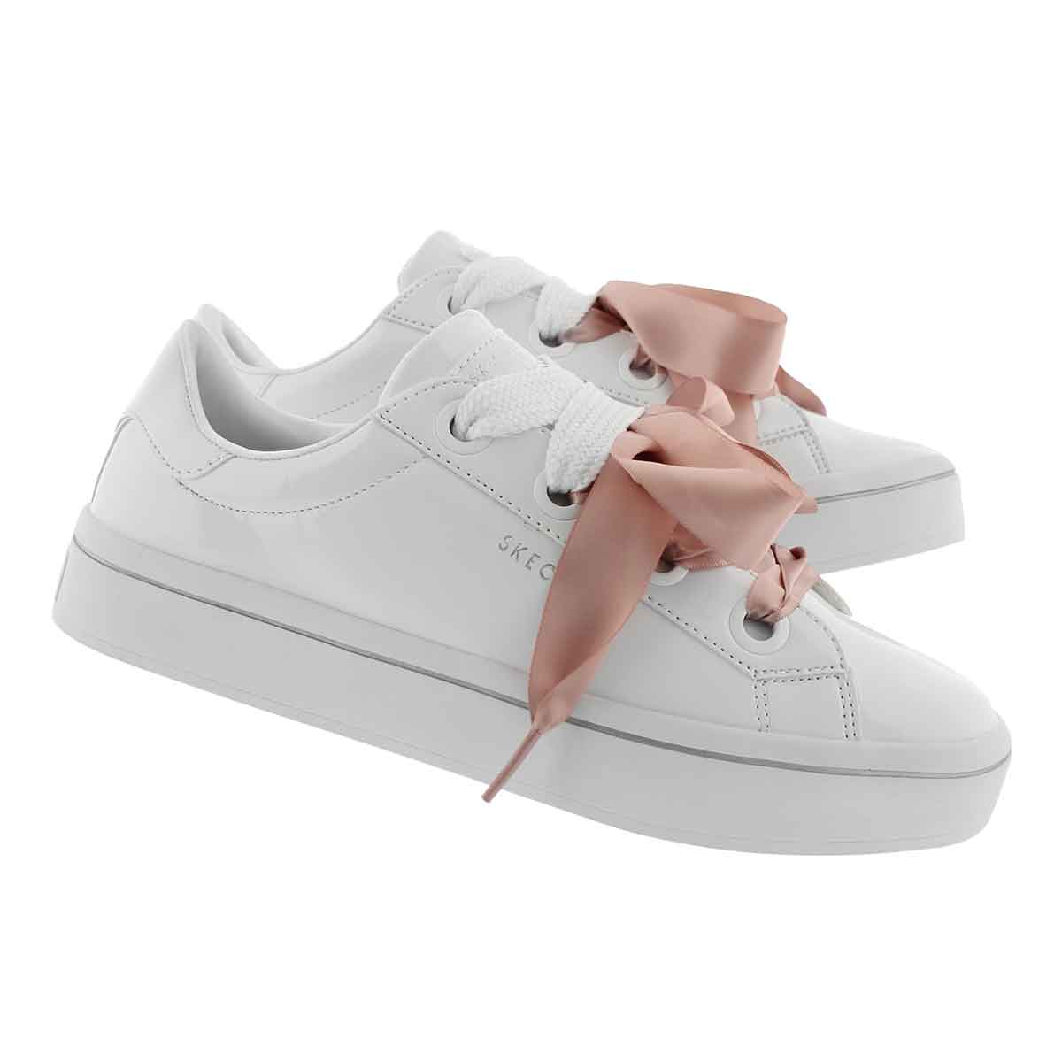 Lds Hi-Lite white lace up sneaker
