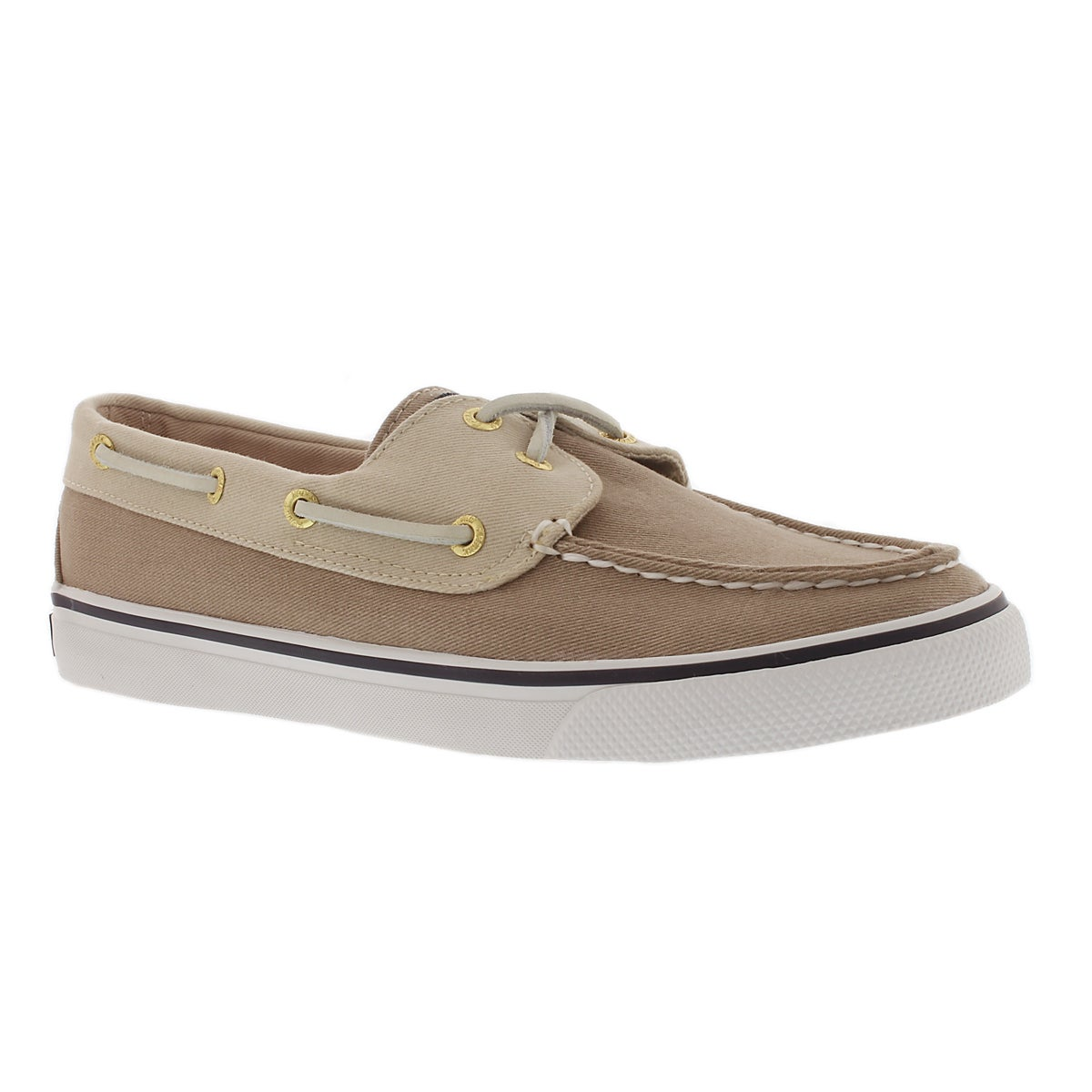 Lds Bahama 2-eye stone canvas boat shoe
