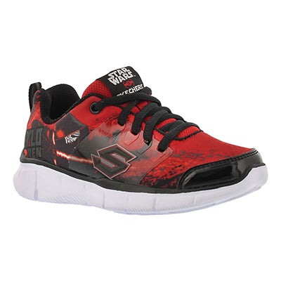 Skechers Boys' MEGASONIC red/black lace up sneakers
