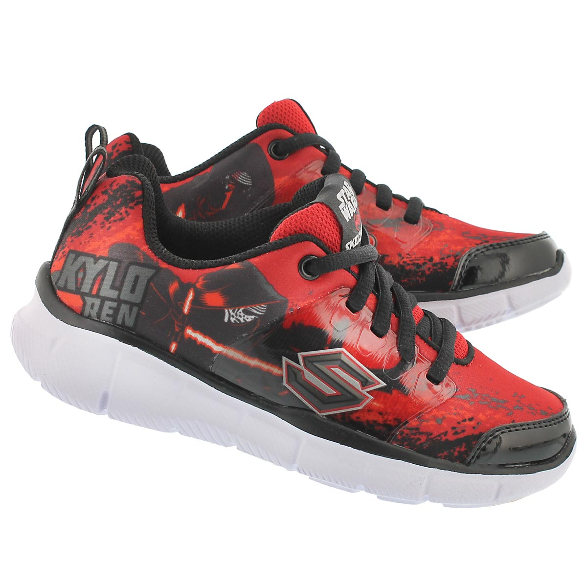 Bys Megasonic red/blk lace up sneaker