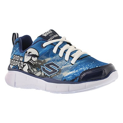 Skechers Boys' MEGASONIC royal blue lace up sneakers