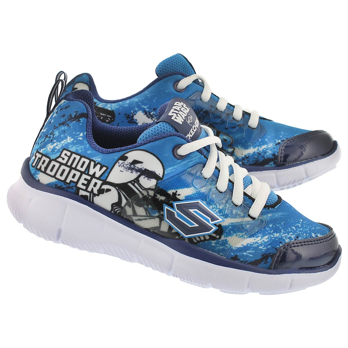 Bys Megasonic royal blu lace up sneaker