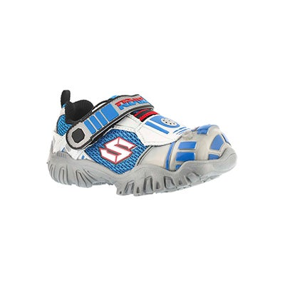 Skechers Infants' ASTROMECH silver/black light up sneakers
