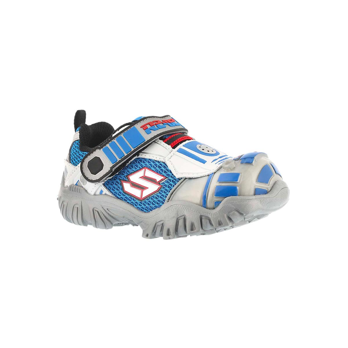 Infants' ASTROMECH silver/black light up sneakers