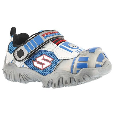 Inf Astromech silv/blk light up sneaker