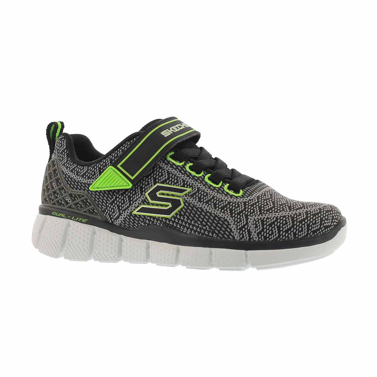 Boys' EQUALIZER 2.0 black/grey/green sneakers