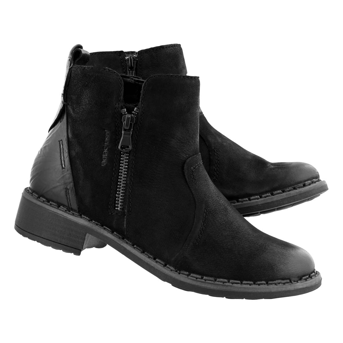 Lds Selena 08 black side zip ankle boot