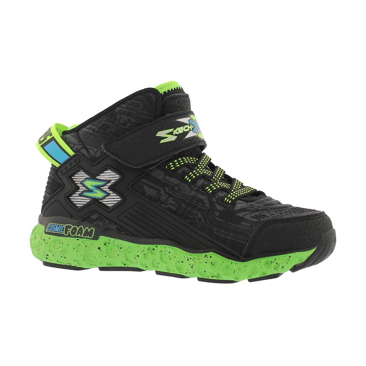 Boys' COSMIC FOAM black/lime sneakers